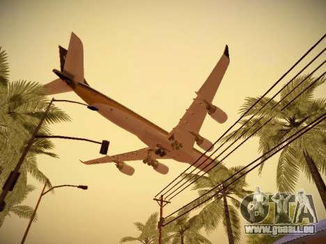 Airbus A340-600 Singapore Airlines für GTA San Andreas Innenansicht