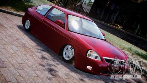 Lada Priora Coupe pour GTA 4 est une vue de l'intérieur
