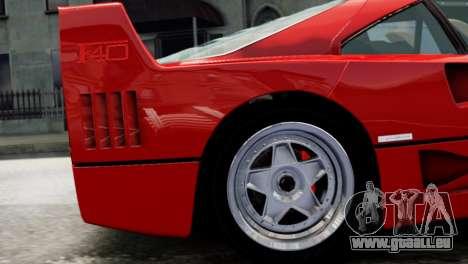 Ferrari F40 1987 pour GTA 4 est un droit