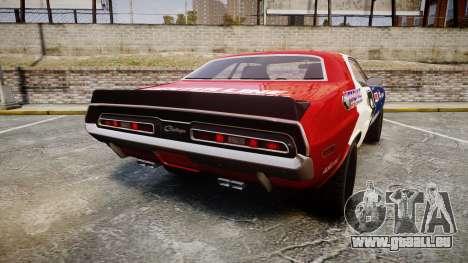 Dodge Challenger 1971 v2.2 PJ10 pour GTA 4 Vue arrière de la gauche