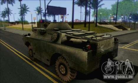 BRDM-2 from ArmA Armed Assault pour GTA San Andreas laissé vue