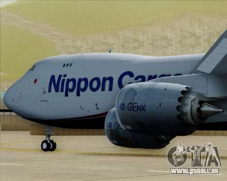 Boeing 747-8 Cargo Nippon Cargo Airlines pour GTA San Andreas moteur