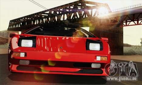 Lamborghini Diablo SV 1995 (HQLM) pour GTA San Andreas vue de côté