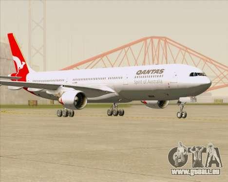 Airbus A330-300 Qantas pour GTA San Andreas sur la vue arrière gauche