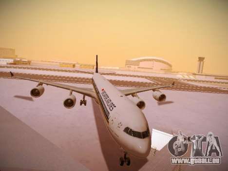 Airbus A340-600 Singapore Airlines für GTA San Andreas linke Ansicht