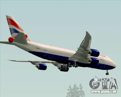 Boeing 747-8 Cargo British Airways World Cargo pour GTA San Andreas vue de côté