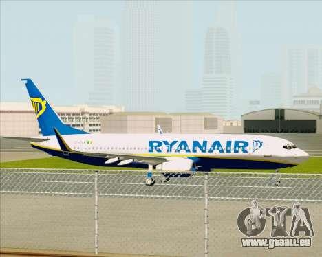 Boeing 737-8AS Ryanair für GTA San Andreas Rückansicht