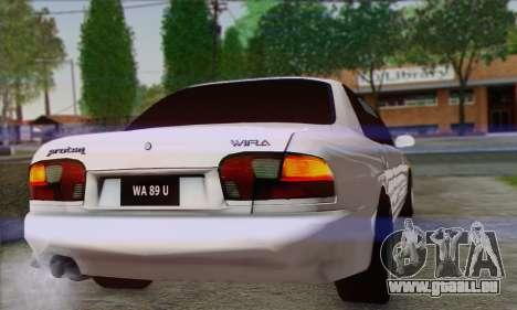 Proton Wira Official Malaysian Limousine für GTA San Andreas rechten Ansicht