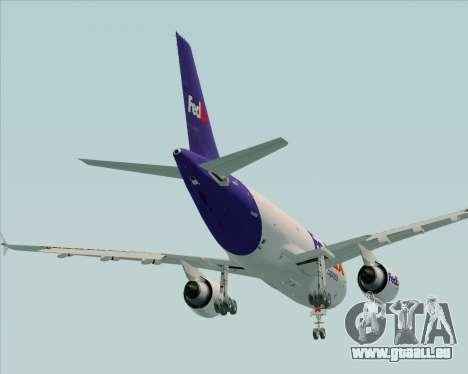 Airbus A310-300 Federal Express für GTA San Andreas obere Ansicht