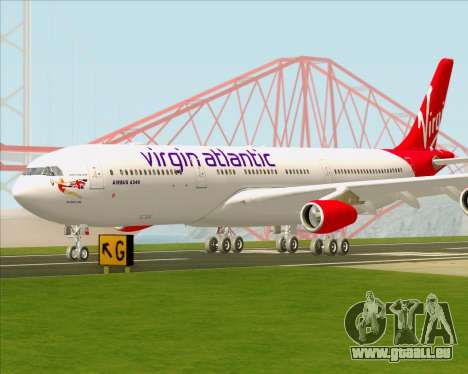 Airbus A340-313 Virgin Atlantic Airways für GTA San Andreas obere Ansicht