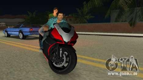 Aprilia RSV4 2009 Original für GTA Vice City Innenansicht
