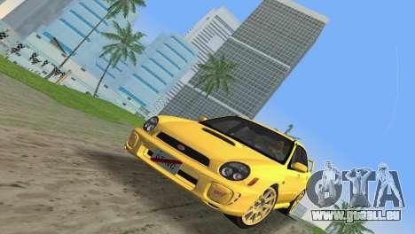 Subaru Impreza WRX 2002 Type 1 pour GTA Vice City sur la vue arrière gauche