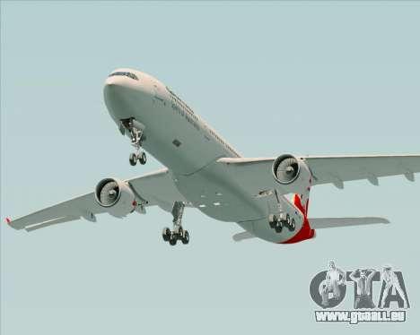 Airbus A330-300 Qantas für GTA San Andreas obere Ansicht
