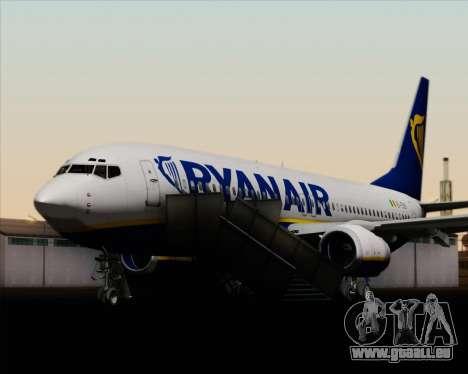 Boeing 737-8AS Ryanair für GTA San Andreas Räder