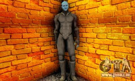 Skin Electro From The Amazing Spider Man 2 für GTA San Andreas dritten Screenshot