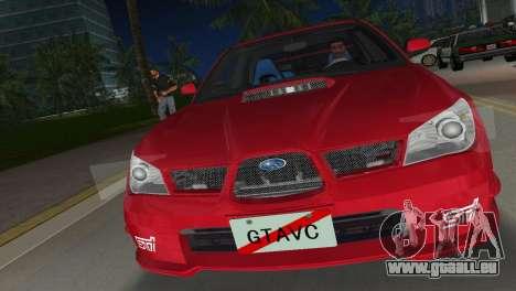 Subaru Impreza WRX STI 2006 Type 1 pour GTA Vice City vue arrière
