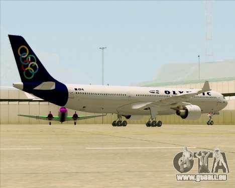 Airbus A330-300 Olympic Airlines pour GTA San Andreas sur la vue arrière gauche