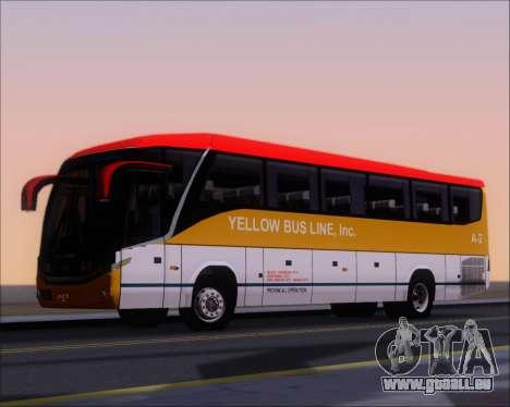 Marcopolo Paradiso G7 1050 Yellow Bus Line A-2 pour GTA San Andreas vue de côté