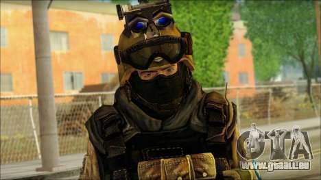 Les soldats de l'UNION européenne (AVA) v6 pour GTA San Andreas troisième écran