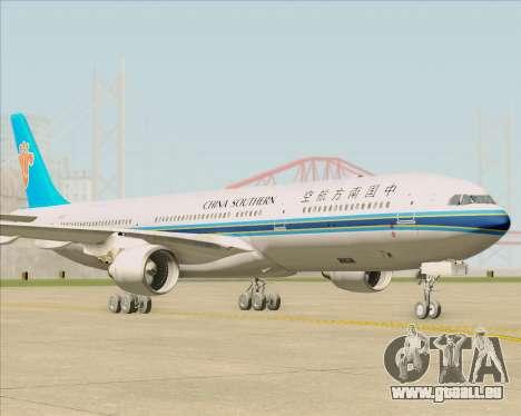 Airbus A330-300 China Southern Airlines pour GTA San Andreas sur la vue arrière gauche