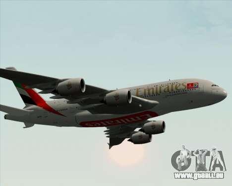 Airbus A380-841 Emirates pour GTA San Andreas moteur