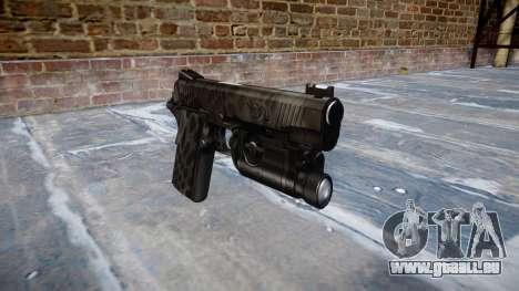 Gun Kimber 1911 Kryptek Typhon für GTA 4
