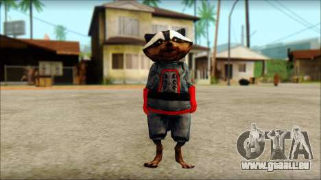 Guardians of the Galaxy Rocket Raccoon v1 für GTA San Andreas