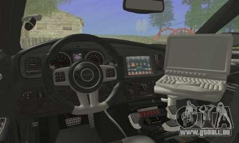 Dodge Charger ViPD 2012 für GTA San Andreas zurück linke Ansicht