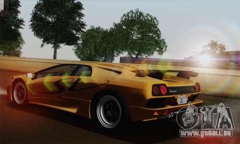 Lamborghini Diablo SV 1995 (HQLM) pour GTA San Andreas laissé vue