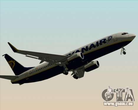Boeing 737-8AS Ryanair pour GTA San Andreas vue de dessous