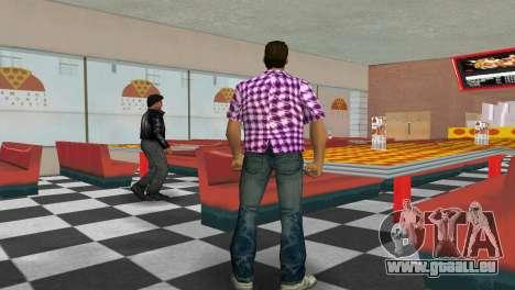 Kockas polo - rozsaszin T-Shirt für GTA Vice City dritte Screenshot