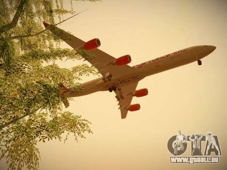 Airbus A340-600 Virgin Atlantic New Livery für GTA San Andreas Seitenansicht