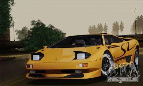 Lamborghini Diablo SV 1995 (ImVehFT) pour GTA San Andreas sur la vue arrière gauche