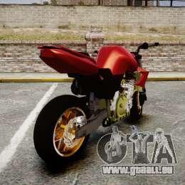 Yamaha FZ6 für GTA 4 hinten links Ansicht