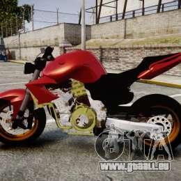 Yamaha FZ6 für GTA 4 linke Ansicht