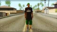 New Grove Street Family Skin v3 pour GTA San Andreas