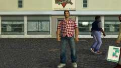 Kockas polo - piros T-Shirt