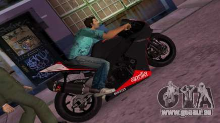 Aprilia RSV4 2009 Original für GTA Vice City