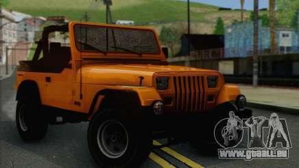 Jeep Wrangler pour GTA San Andreas