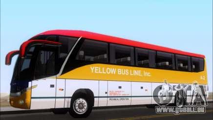 Marcopolo Paradiso G7 1050 Yellow Bus Line A-2 für GTA San Andreas
