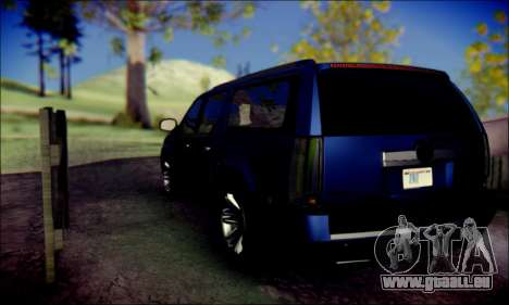 Cadillac Escalade Ninja für GTA San Andreas Rückansicht