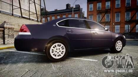 Chevrolet Impala 2010 Undercover [ELS] für GTA 4 linke Ansicht