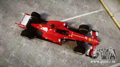 Ferrari F138 v2.0 [RIV] Alonso TSD für GTA 4 rechte Ansicht