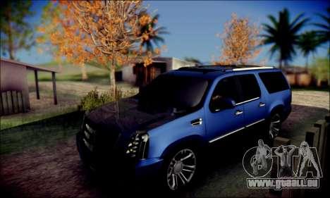Cadillac Escalade Ninja für GTA San Andreas Innenansicht