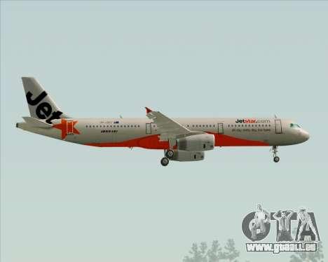 Airbus A321-200 Jetstar Airways für GTA San Andreas Seitenansicht