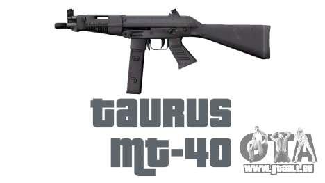 Pistolet Taurus MT-40 buttstock1 icon2 pour GTA 4 troisième écran