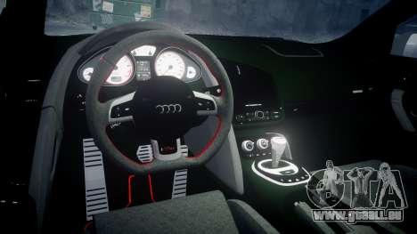 Audi R8 GT Coupe 2011 Yoshino pour GTA 4 est une vue de l'intérieur