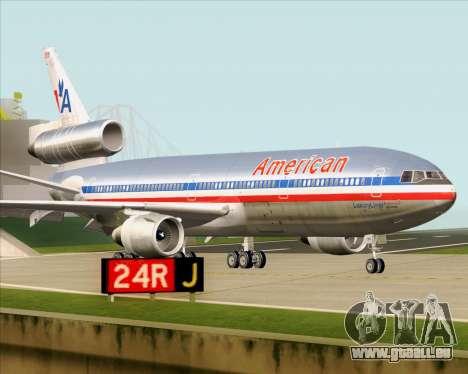 McDonnell Douglas DC-10-30 American Airlines pour GTA San Andreas vue intérieure