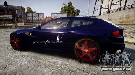 Ferrari FF 2012 Pininfarina Blue pour GTA 4 est une gauche
