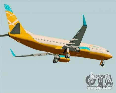 Boeing 737-800 Orbit Airlines pour GTA San Andreas vue de dessous